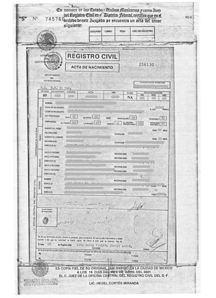 AN2001-Acta de nacimiento 2001