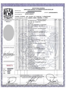 CCH2013-Certificado de Bachillerato CCH