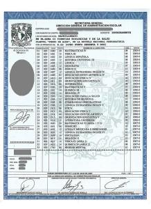 PRE2007-Certificado de Preparatoria UNAM