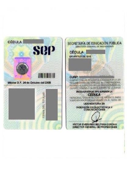 CEDP2005-Cedula Profesional-2005